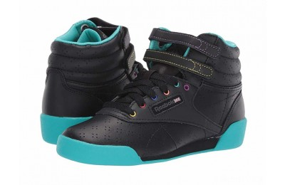 Reebok Kids F/S Hi (Toddler/Youth) Black/Teal/Grey - SALE