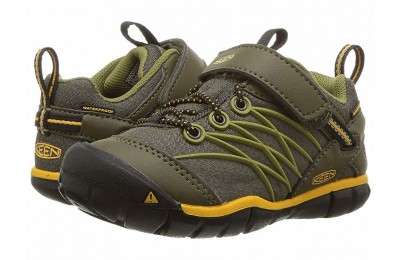 Keen Kids Chandler CNX WP (Toddler/Little Kid) Dark Olive/Citrus