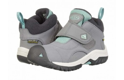 Keen Kids Kootenay II WP (Toddler/Little Kid) Steel Grey/Wasabi
