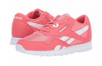 Reebok Kids Classic Nylon MU (Little Kid) Bright Rose/White - SALE