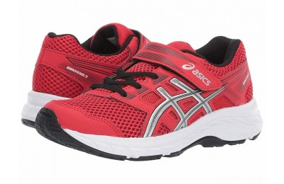 ASICS Kids Gel-Contend PS (Toddler/Little Kid) Classic Red/Silver - SALE