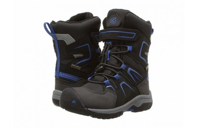Keen Kids Levo Winter WP (Toddler/Little Kid) Black/Baleine Blue