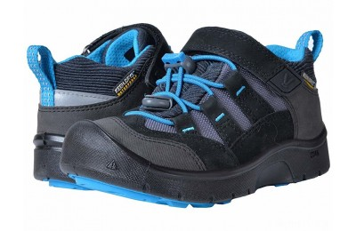 Keen Kids Hikeport WP (Toddler/Little Kid) Black/Blue Jewel