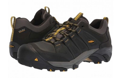 Keen Utility Boulder Steel Toe Waterproof Raven/Yellow
