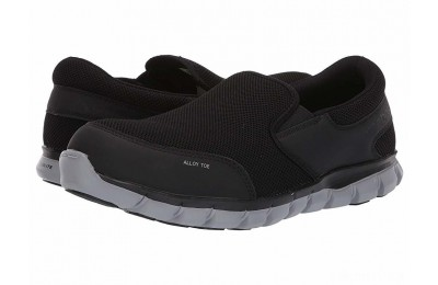 Reebok Work Sublite Cushion Work Alloy Toe EH Slip On Black - SALE