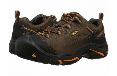 Keen Utility Braddock Low Soft Toe Cascade Brown/Orange Ochre
