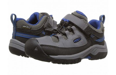 Keen Kids Targhee Low WP (Toddler/Little Kid) Steel Grey/Baleine