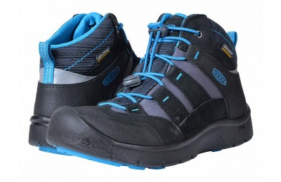 Keen Kids Hikeport Mid WP (Little Kid/Big Kid) Black/Blue Jewel