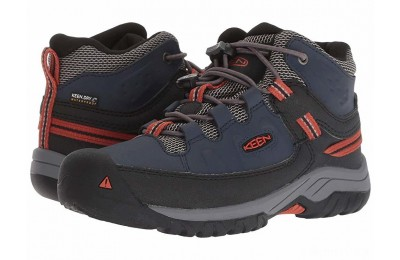 Keen Kids Targhee Mid WP (Little Kid/Big Kid) Blue Nights/Roobios
