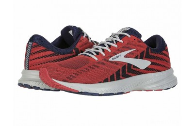 Brooks Launch 6 Cherry/Navy/Grey - SALE