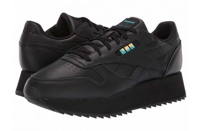 Reebok Lifestyle Classics Leather Double Gigi-Black/White/Glacier - SALE