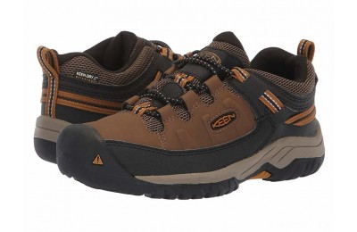 Keen Kids Targhee Low WP (Little Kid/Big Kid) Dark Earth/Golden Brown