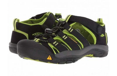 Keen Kids Newport H2 (Little Kid/Big Kid) Black/Lime Green