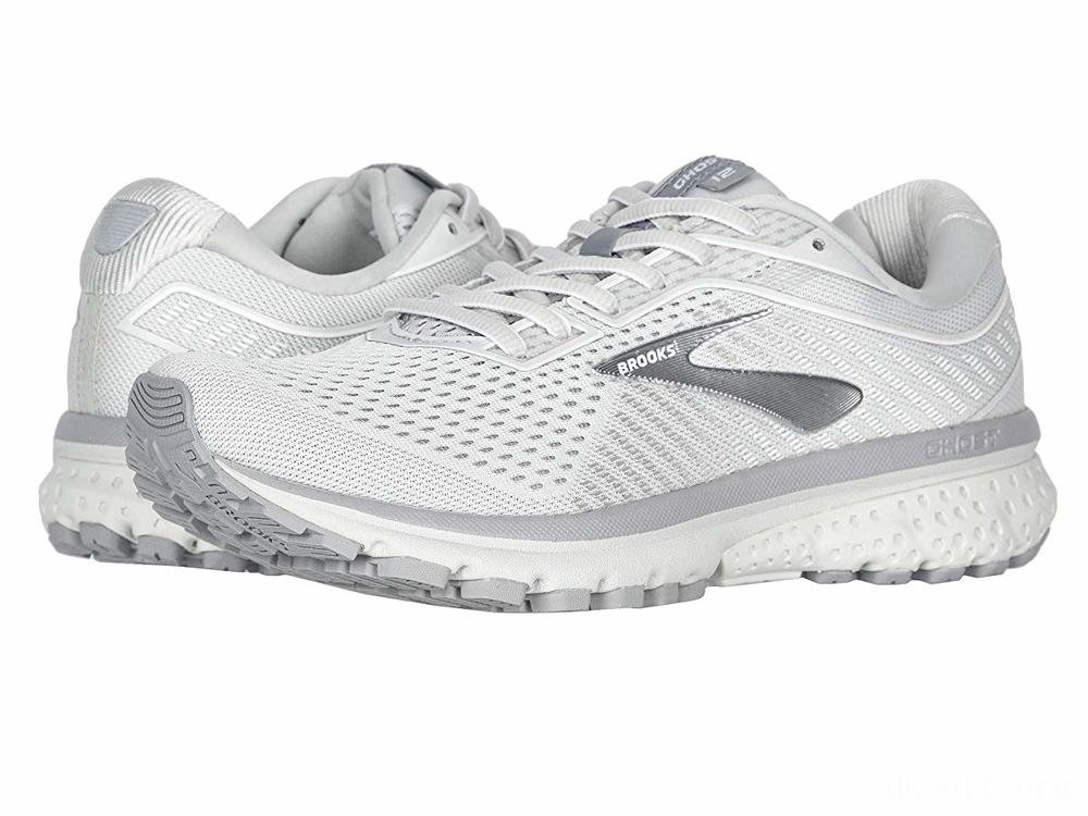 Brooks Ghost 12 Oyster/Alloy/White - SALE