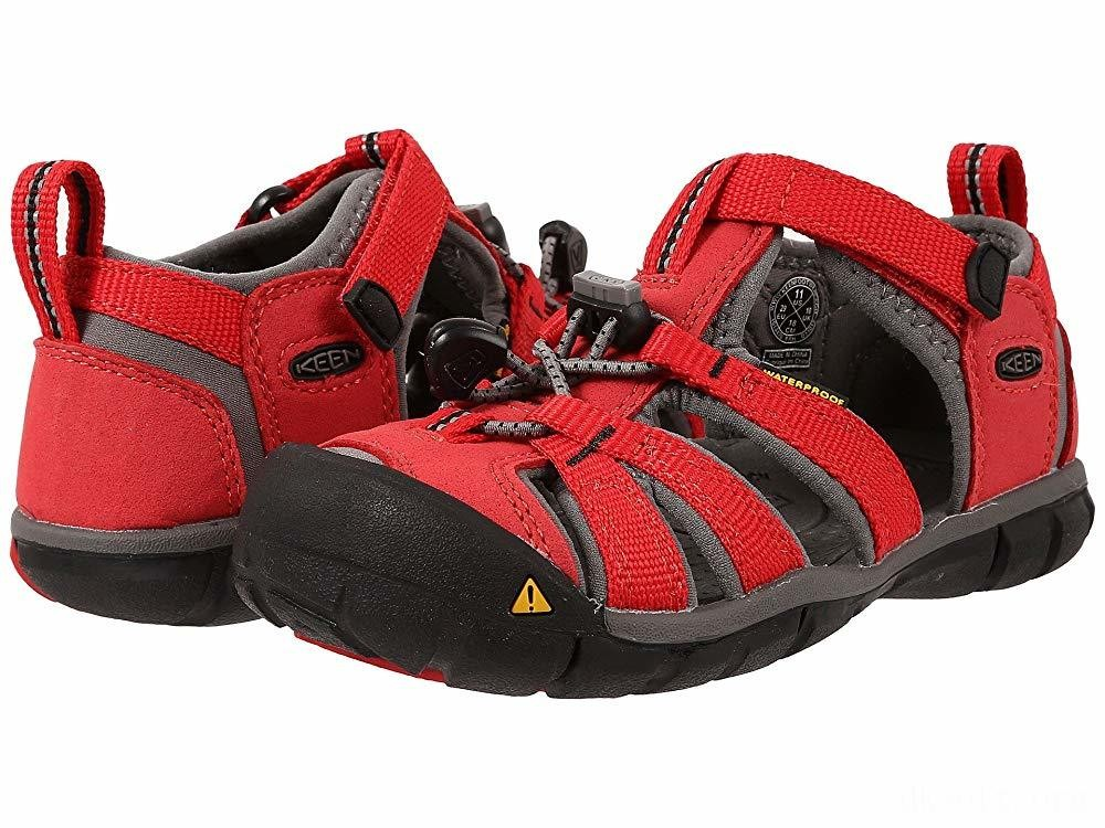 Keen Kids Seacamp II CNX (Toddler/Little Kid) Racing Red/Gargoyle