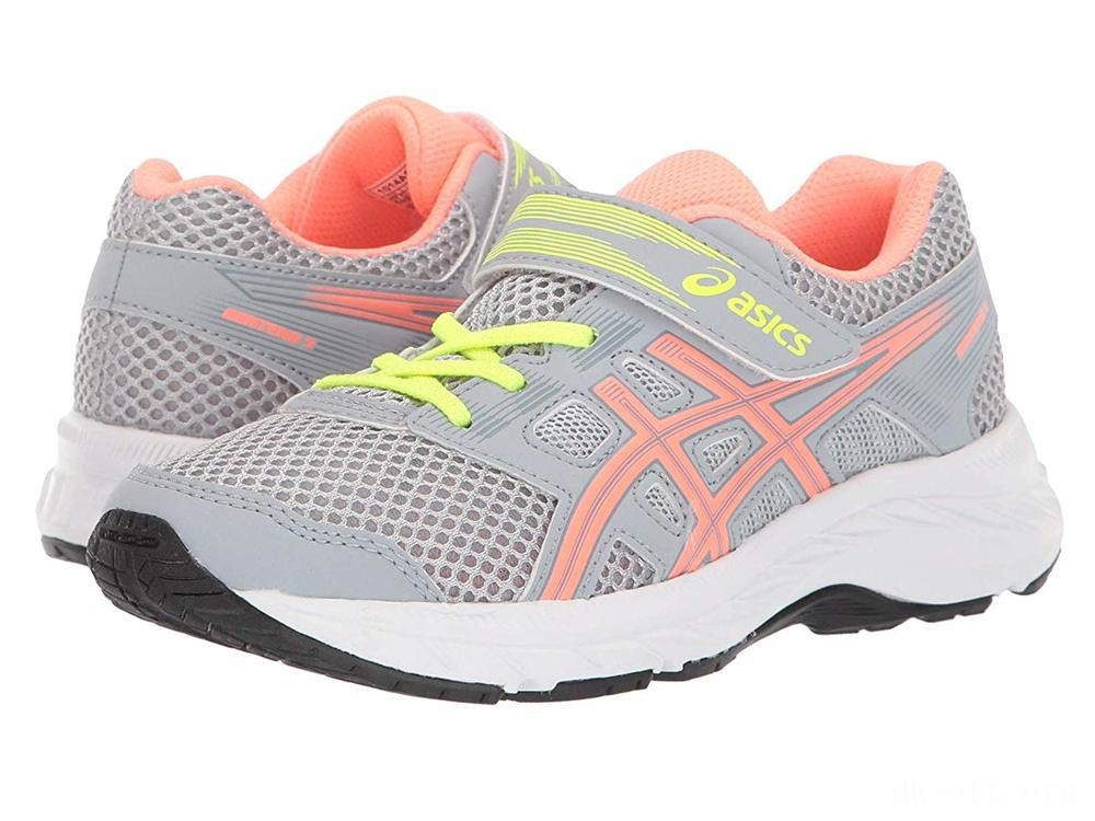 ASICS Kids Gel-Contend 5 (Toddler/Little Kid) Piedmont Grey/Sun Coral - SALE
