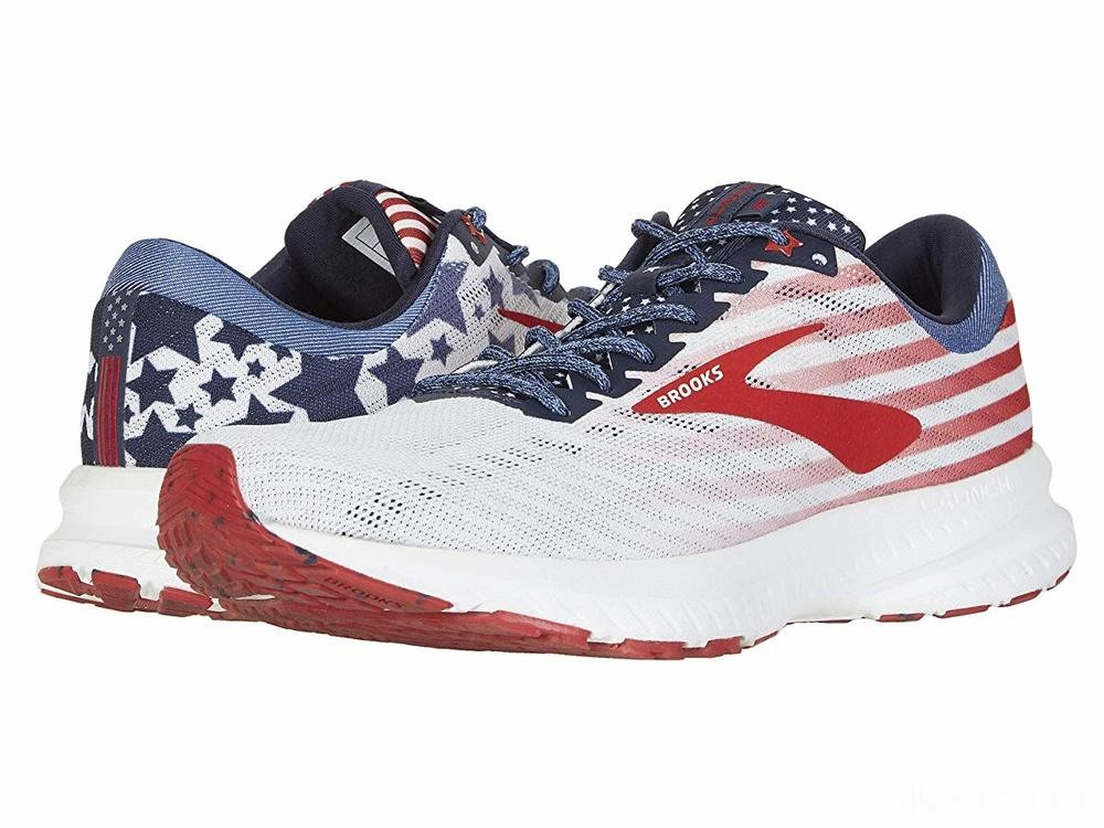 Brooks Launch 6 White/Blue/Red - SALE