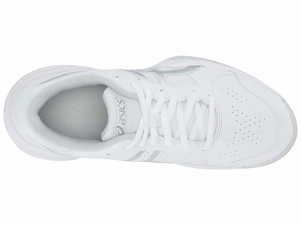 ASICS Kids Gel-Game 7 GS Tennis (Little Kid/Big Kid) White/Silver - SALE