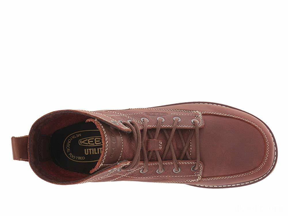 """Keen Utility San Jose 6"""" Soft Gingerbread/Off-White"""
