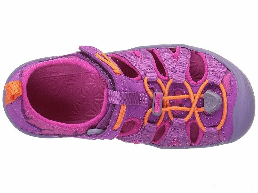 Keen Kids Moxie Sandal (Toddler/Little Kid) Purple Wine/Nasturtium