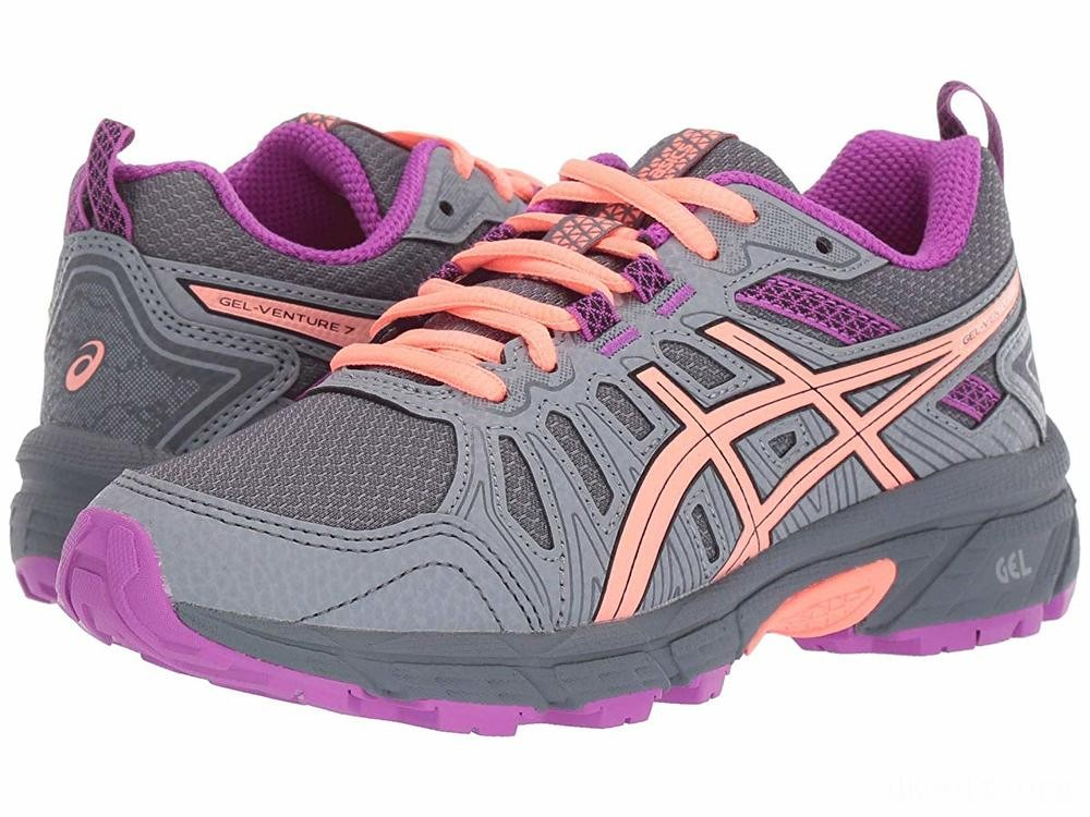 ASICS Kids GEL-Venture 7 (Little Kid/Big Kid) Metropolis/Black - SALE